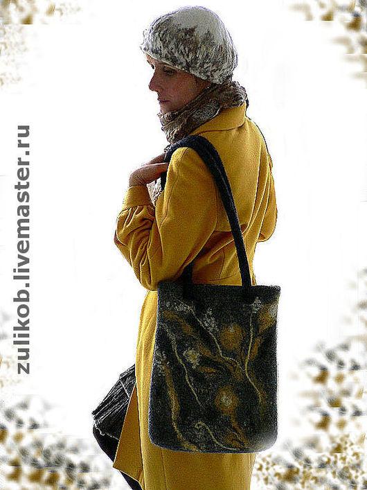 """Женские сумки ручной работы. Ярмарка Мастеров - ручная работа. Купить Сумка валяная """" Сухоцветы"""". Handmade. Сумка"""