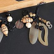 handmade. Livemaster - original item A bunch of beads and pendants a Buffalo horn and Bone. Handmade.