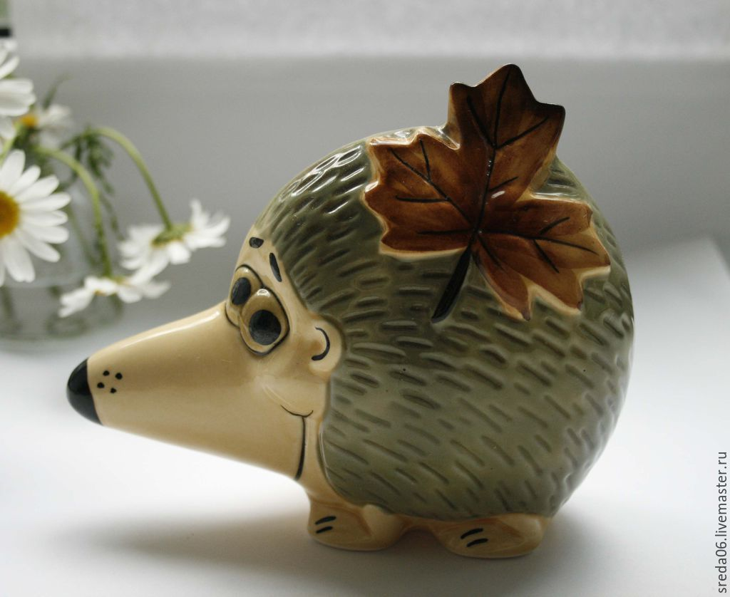 Little porcelain hedgehog, Figurines, Sergiev Posad,  Фото №1