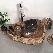 Мебель для бани и сауны ручной работы. Ярмарка Мастеров - ручная работа Раковина из окаменелого дерева. Handmade.