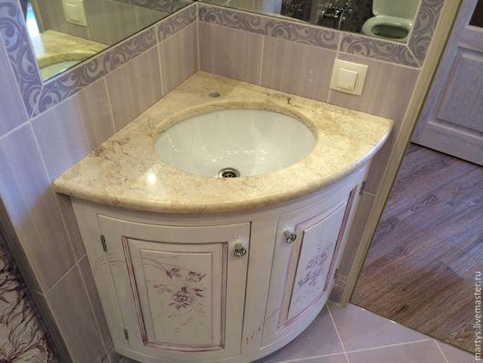 Ванная комната ручной работы. Ярмарка Мастеров - ручная работа. Купить тумбочка в ванную. Handmade. Белый, раковина, мебель на заказ