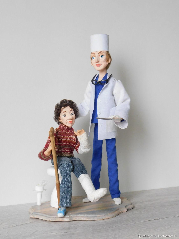 Подарок врачу У ТРАВМАТОЛОГА авторская кукла, Приколы, Москва,  Фото №1