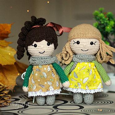 Dolls & toys handmade. Livemaster - original item Doll: Autumn little ladies. Handmade.