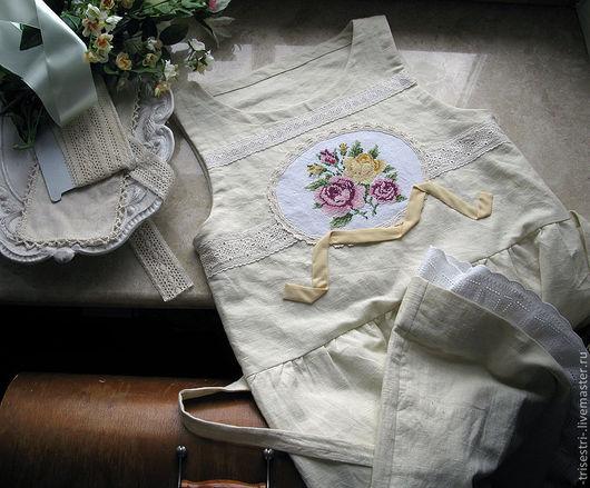 """Платья ручной работы. Ярмарка Мастеров - ручная работа. Купить Платье """"Грушевое с розами"""". Handmade. Авторская одежда, льняное платье"""