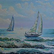 """Картины и панно ручной работы. Ярмарка Мастеров - ручная работа Картина """"Морская регата"""". Handmade."""