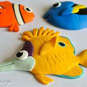 Для дома и интерьера ручной работы. Ярмарка Мастеров - ручная работа магнит Рыбка. Handmade.