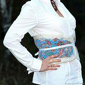 Аксессуары handmade. Livemaster - original item Belt from dog and felted wool. Handmade.
