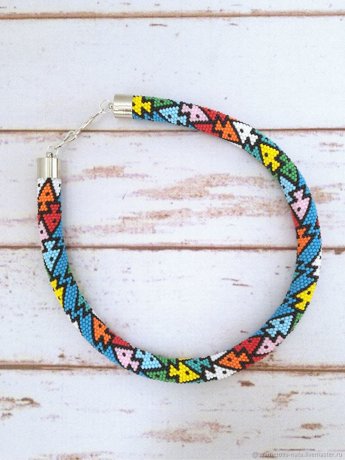 Harness from beads 'Fish», Necklace, Abakan,  Фото №1