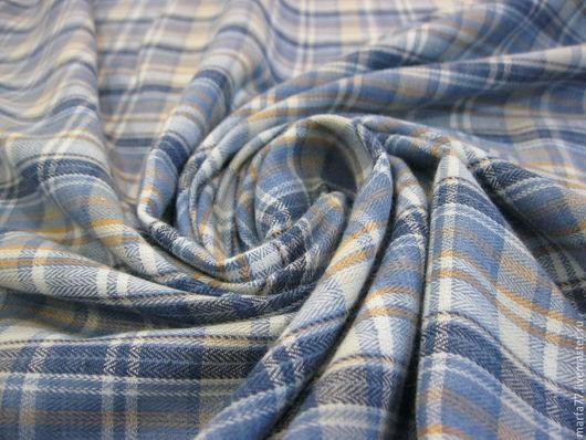Шитье ручной работы. Ярмарка Мастеров - ручная работа. Купить Итальянская рубашечная ткань.. Handmade. Синий, итальянский хлопок, хлопок