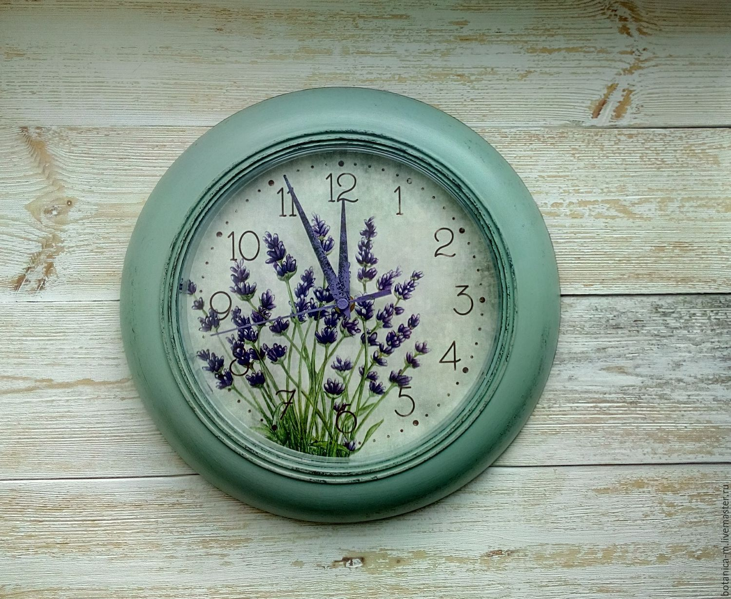 'Blue lavender No. 3' wall Clock, Provence, country, Watch, St. Petersburg,  Фото №1
