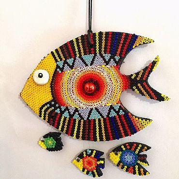 """Для дома и интерьера ручной работы. Ярмарка Мастеров - ручная работа Рыбка """"Яжмать"""". Handmade."""