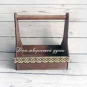 Остаток 4 штуки Ящик для цветов коричневый, 28,5 см. х 30 см. х 18 см.