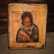Картины и панно handmade. Livemaster - original item The Icon Of The Mother Of God Of Pskov Caves