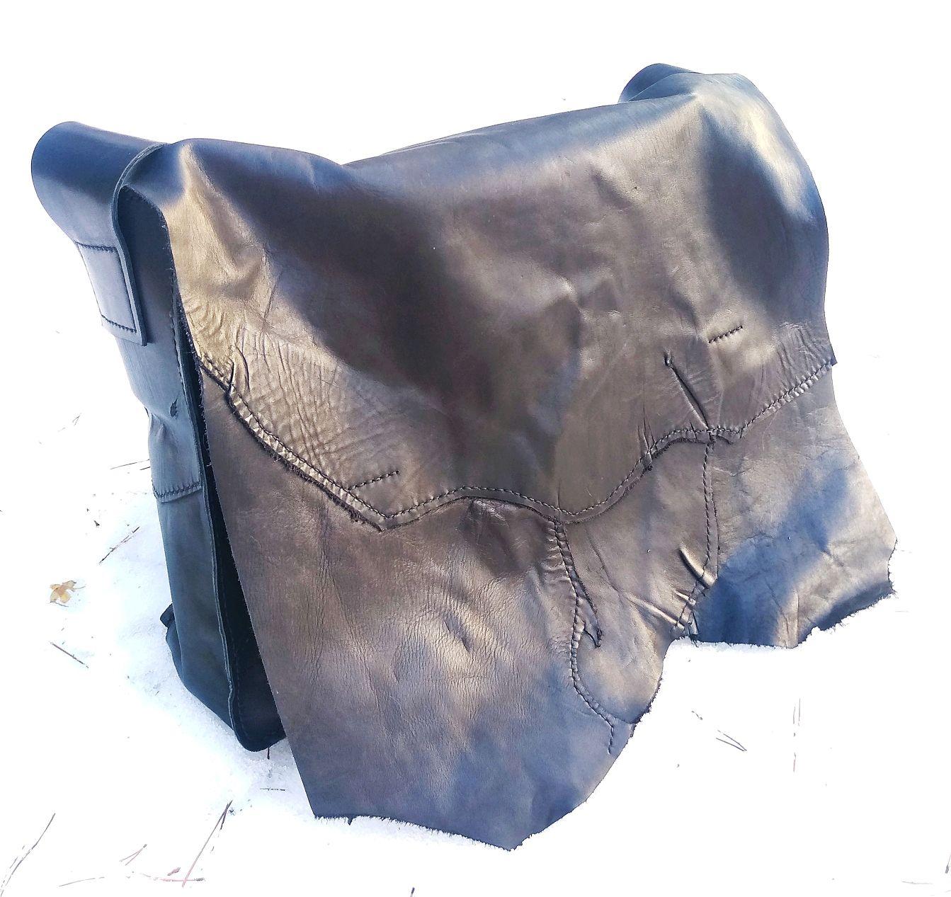 Большая сумка Мессенджер с клапаном через плечо кожаная ручной работы, Сумка через плечо, Москва,  Фото №1
