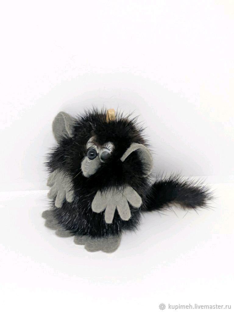 Rat souvenir, keychain made of mink fur, Christmas gifts, Nalchik,  Фото №1