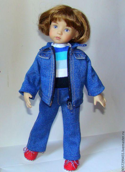 Одежда для кукол ручной работы. Ярмарка Мастеров - ручная работа. Купить Джинсовый костюм для куклы Дианны Эффнер, Паола Рейна. Handmade.