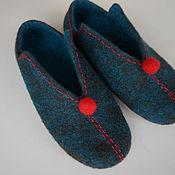 """Обувь ручной работы. Ярмарка Мастеров - ручная работа валяные тапочки """" Когда то..."""". Handmade."""