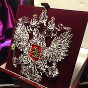 Русский стиль handmade. Livemaster - original item Rock Crystal Emblem of Russia. Handmade.