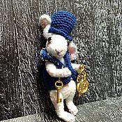 Куклы и игрушки handmade. Livemaster - original item ON SALE White rabbit-miniature 5,5 cm, crocheted. Handmade.