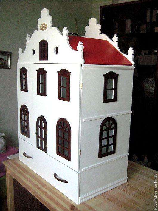 Кукольный дом ручной работы. Ярмарка Мастеров - ручная работа. Купить Кукольный домик 25. Handmade. Белый, кукольный домик