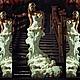 """Платья ручной работы. Ярмарка Мастеров - ручная работа. Купить Вязаное платье со шлейфом из коллекции """"Danzal"""". Handmade. Бежевый"""