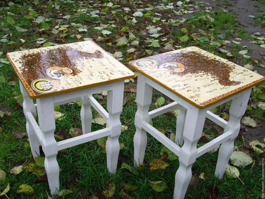 """Мебель ручной работы. Ярмарка Мастеров - ручная работа. Купить Табуретка """"Утренний кофе"""". Handmade. Коричневый, табуретка, кофе, кухня"""