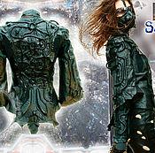 Одежда ручной работы. Ярмарка Мастеров - ручная работа Куртка женская кожа натуральная, черная панк эксклюзив. Handmade.