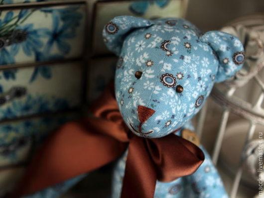 Куклы Тильды ручной работы. Ярмарка Мастеров - ручная работа. Купить Тильда мишка Бирюза и шоколад. Handmade. Тёмно-бирюзовый