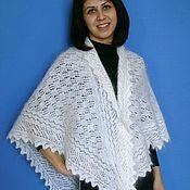 handmade. Livemaster - original item 139 solitaire, downy, downy wares, accessories, shawl. Handmade.