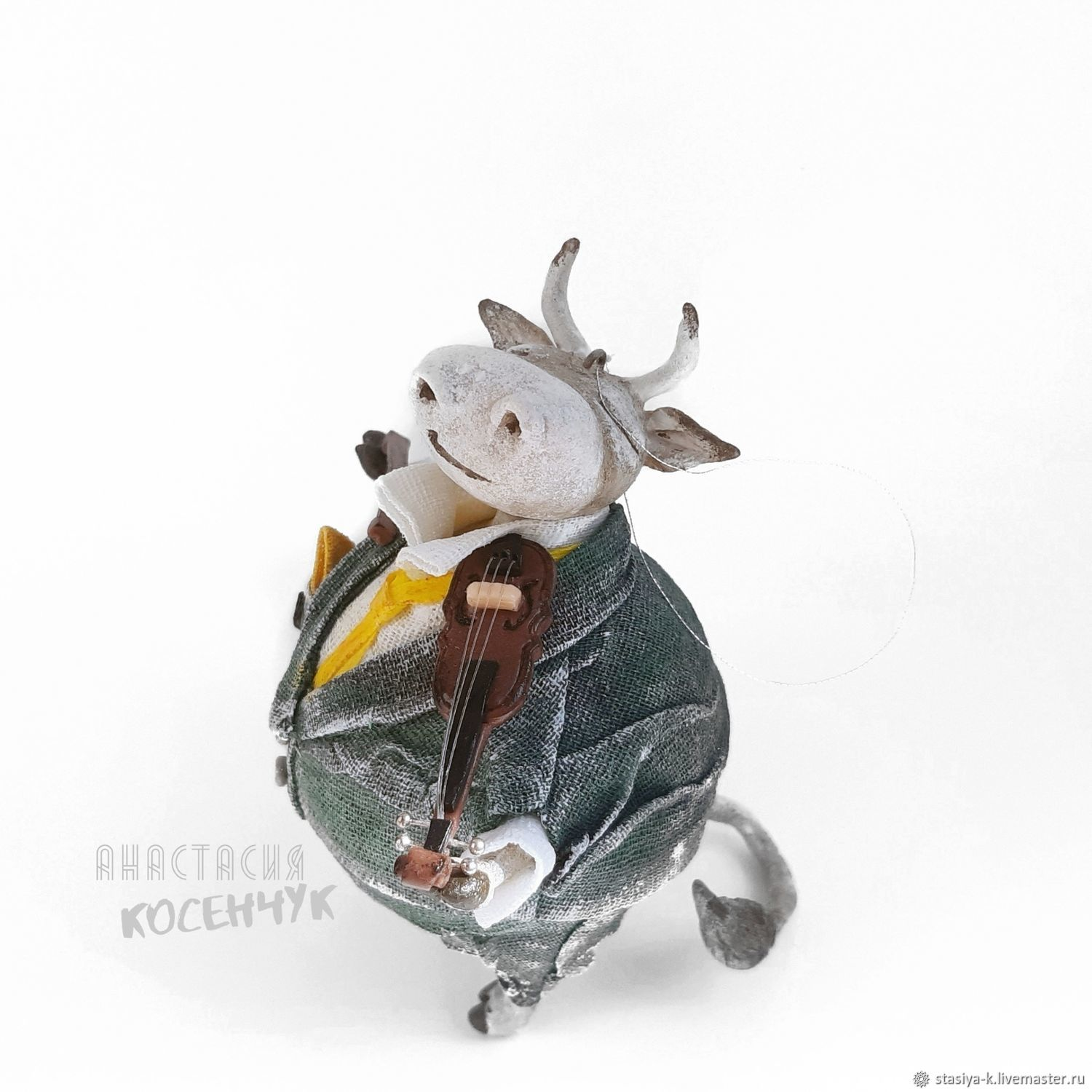 Toy for the Christmas tree Bull, interior, souvenir bull (Christmas toys), Christmas decorations, Tomsk,  Фото №1