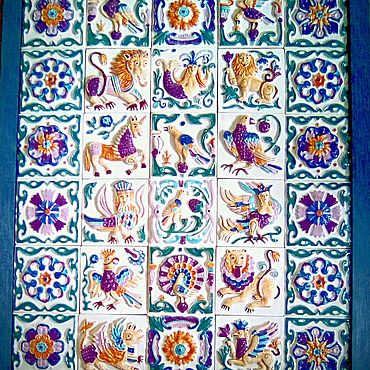 Для дома и интерьера ручной работы. Ярмарка Мастеров - ручная работа Плитка керамическая - панно.. Handmade.