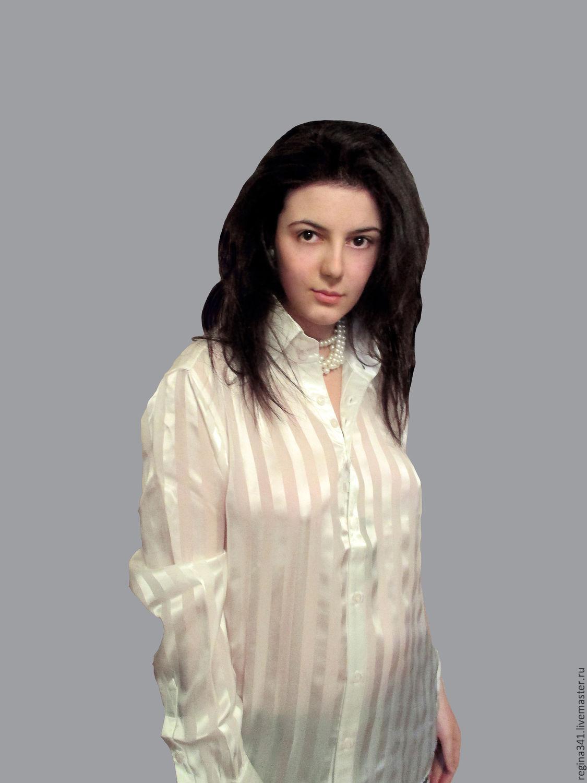 """Шёлковая женская  рубашка """" Regina"""", Блузки, Москва,  Фото №1"""