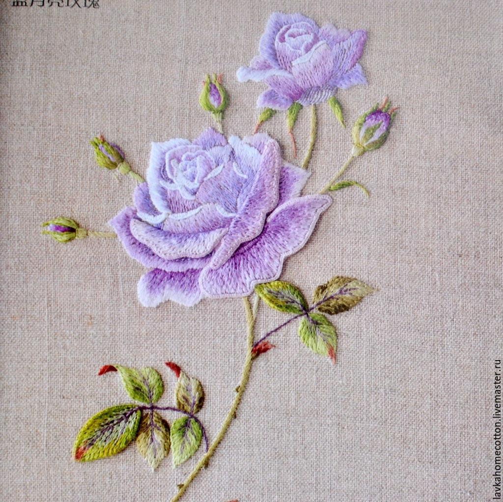 Вышивка гладью картинки розы