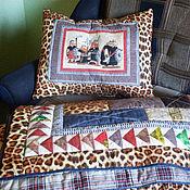 """Для дома и интерьера ручной работы. Ярмарка Мастеров - ручная работа комплект одеяло+подушка """"Рыцарю"""". Handmade."""