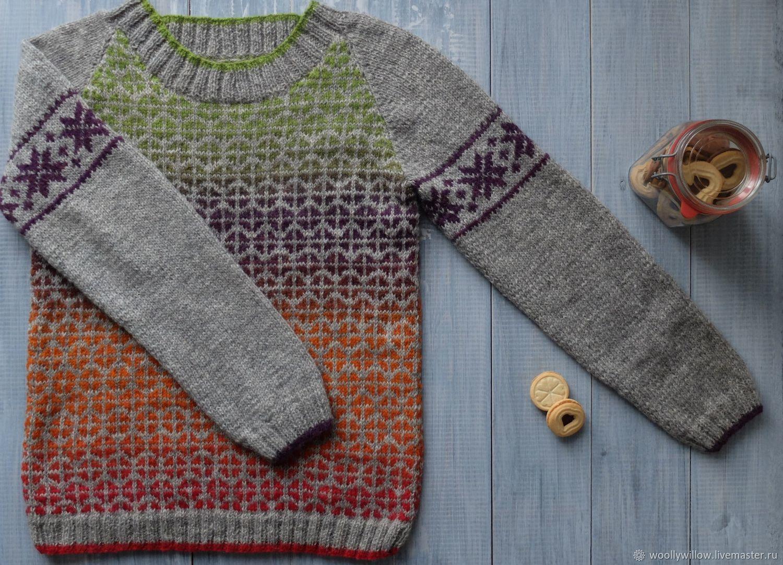 Вязаный свитер Мягче, ручной вязки – купить в интернет ...