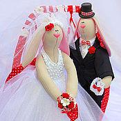 Куклы и игрушки ручной работы. Ярмарка Мастеров - ручная работа Свадебные зайцы (рост 26 см). Handmade.