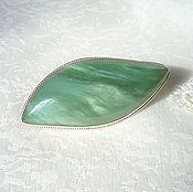 Украшения handmade. Livemaster - original item Brooch made of jade. Handmade.