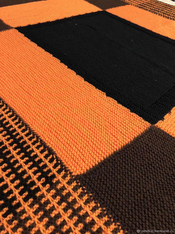 blankets: Knitted blanket ' Juicy orange', Blanket, Astrakhan,  Фото №1