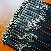 Украшения ручной работы. Ярмарка Мастеров - ручная работа Браслеты с металлическими буквами. Handmade.