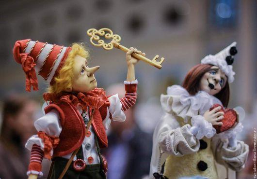Коллекционные куклы ручной работы. Ярмарка Мастеров - ручная работа. Купить Буратино. Handmade. Буратино, самоотвердевающий пластик, шёлковые ленты