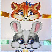 """Работы для детей, ручной работы. Ярмарка Мастеров - ручная работа Маски из плотного фетра """"Кролик"""" и """"Лиса"""". Handmade."""