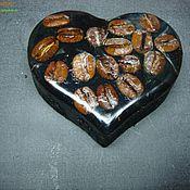 """Косметика ручной работы. Ярмарка Мастеров - ручная работа Мыло-скраб """"Мое сердце отдано кофе"""". Handmade."""