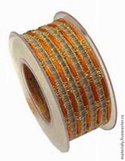 Упаковка ручной работы. Ярмарка Мастеров - ручная работа. Купить Лента сетка оранжевая 50 мм. Handmade. Рыжий