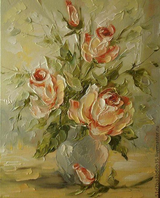 Картины цветов ручной работы. Ярмарка Мастеров - ручная работа. Купить Розовое утро. Handmade. Розовый, картина, картина в подарок