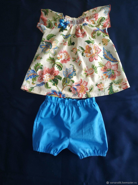 Костюм для малышки (платье и шорты)