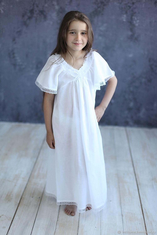 """Ночная сорочка для девочки """"Ледяная сказка"""""""