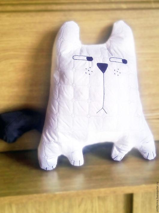 Текстиль, ковры ручной работы. Ярмарка Мастеров - ручная работа. Купить Подушка-игрушка Импозантный кот. Handmade. Белый, игрушка
