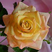 Цветы и флористика ручной работы. Ярмарка Мастеров - ручная работа Желтая роза. Handmade.
