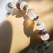 Украшения handmade. Livemaster - original item б21 Bracelet with rose quartz. Handmade.