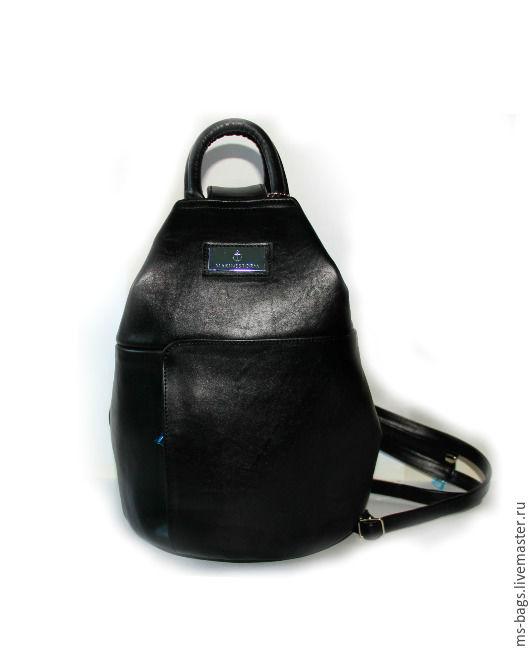 """Женские сумки ручной работы. Ярмарка Мастеров - ручная работа. Купить """"EOLIA"""". Handmade. Черный, рюкзак кожаный, рюкзак для девушки"""